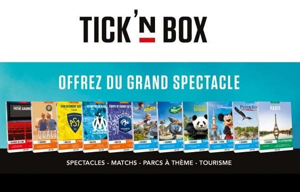 Tick'nbox Les Coffrets Cadeaux Pour Offrir Des Entrées Dans Des Parcs à Thèmes, Spectacles Et évènements Sportifs